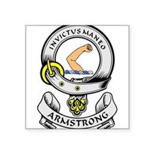 ARMSTRONG Coat of Arms Rectangle Sticker