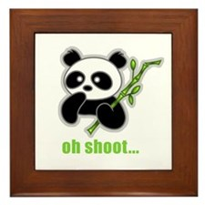 Oh Shoot! Panda Framed Tile