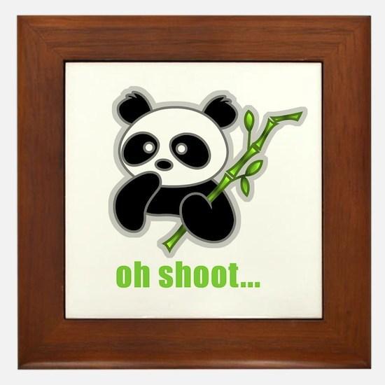 Oh Shoot! Panda Framed Tile