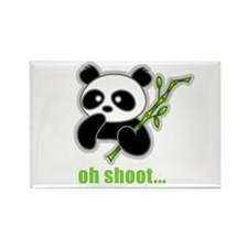 Oh Shoot! Panda Rectangle Magnet
