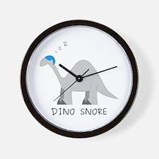Dino Snore Wall Clock