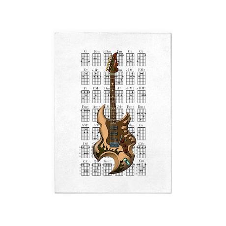 KuuMa Guitar 04 5'x7'Area Rug