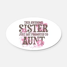 Promoted Aunt Oval Car Magnet