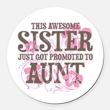 Promoted Aunt Round Car Magnet