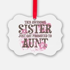 Promoted Aunt Ornament