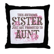 Promoted Aunt Throw Pillow