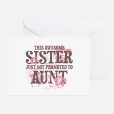 Promoted Aunt Greeting Card