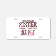 Promoted Aunt Aluminum License Plate