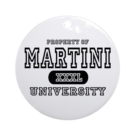 Martini University T-Shirts Ornament (Round)