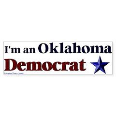 Oklahoma Democrat Bumper Bumper Sticker
