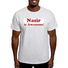 Nasir is Awesome Ash Grey T-Shirt
