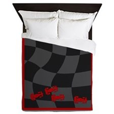 Race Cars Queen Duvet
