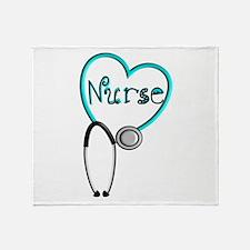 Nurse BLUE STETHO Throw Blanket