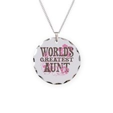 Greatest Aunt Necklace Circle Charm