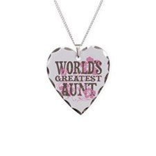 Greatest Aunt Necklace Heart Charm