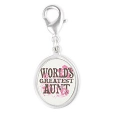 Greatest Aunt Silver Oval Charm
