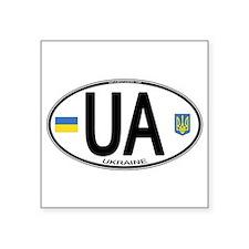 Ukraine Intl Oval Oval Sticker