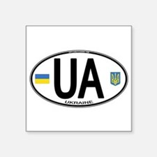 Ukraine Intl Oval Oval Sticker