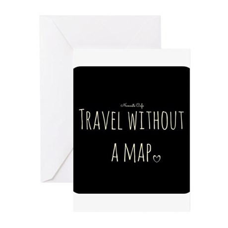 Travel Without a Map Greeting Cards (Pk of 10)