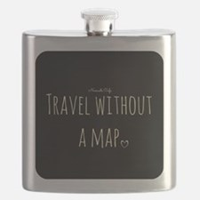 Travel Without a Map Flask