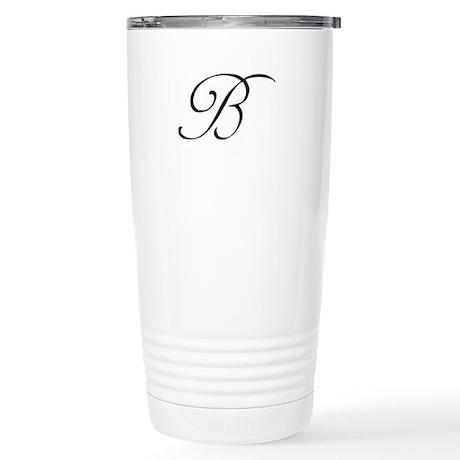 Wedding Monogram B Travel Mug