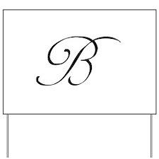 Wedding Monogram B Yard Sign