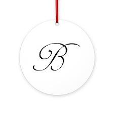 Wedding Monogram B Ornament (Round)