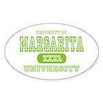 Margarita University Oval Sticker