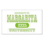 Margarita University Rectangle Sticker