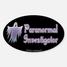Spooky Ghost PI Oval Decal