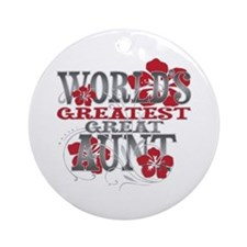 Greatest Great Aunt Ornament (Round)