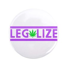 "Legalize Weed Purple 3.5"" Button (100 pack)"