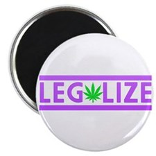 """Legalize Weed Purple 2.25"""" Magnet (100 pack)"""