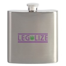 Legalize Weed Purple Flask