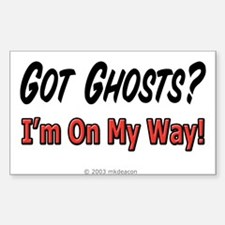 Got Ghosts? Rectangle Decal