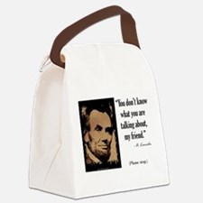 You Don't Know Canvas Lunch Bag