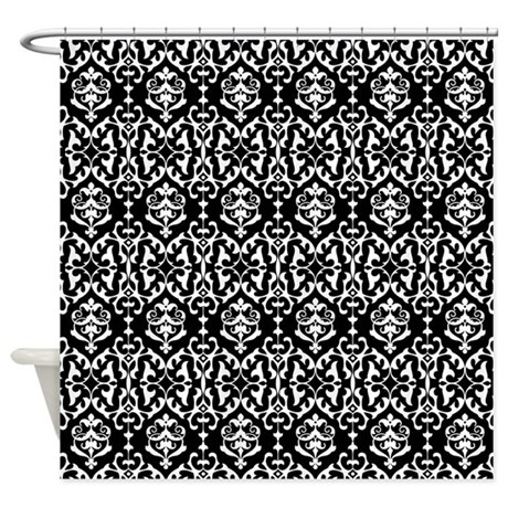 Black And White Damask Shower Curtain By Be Inspired By Life