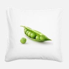 F & V - Peas in a Pod Design Square Canvas Pillow