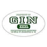 Gin University Oval Sticker