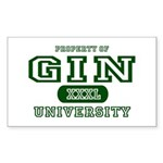 Gin University Rectangle Sticker