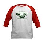 Gin University Kids Baseball Jersey