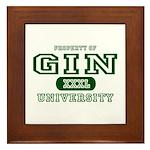 Gin University Framed Tile