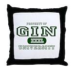 Gin University Throw Pillow