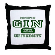 Gin University Throw Pillow