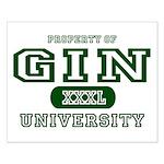 Gin University Small Poster