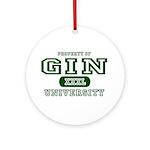 Gin University Ornament (Round)