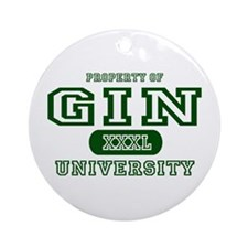 Gin University Ornament (Round)