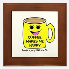 COFFEE MAKES ME HAPPY Framed Tile