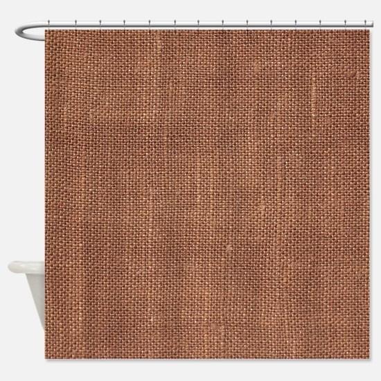 Brown Fabric curtain Shower Curtain