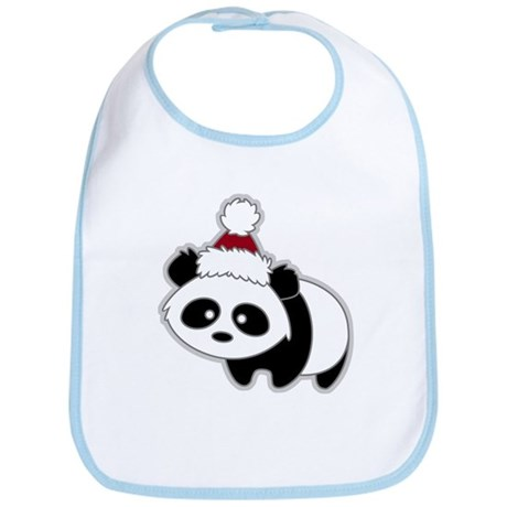 Little Christmas Panda Bib